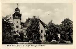 Postcard Wernigerode am Harz, Blick auf FDGB Heim Georgi Dimitroff