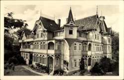 Postcard Wernigerode am Harz, FDGB Ferienheim Roter Stern, Fassade