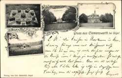 Postcard Clemenswerth Sögel, Kapelle, Herzogliches Schloss, Marstall