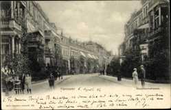 Postcard Hannover in Niedersachsen, Blick in die Hausmannstraße, Passanten