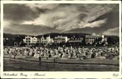 Postcard Binz auf Rügen, Ostseebad, Strandpartie mit Umgebung