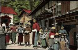 Postcard Japanese Schoolboys, Kinder in Landestracht, Japaner