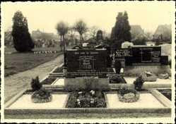 Foto Ak Niedernwöhren, Friedhofspartie,Lina Greft,Adolf Tillmann,Karoline Katze