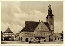 Postcard Gardelegen im Altmarkkreis Salzwedel, Das Rathaus am Marktplatz