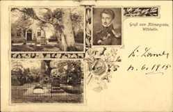 Postcard Wöbbelin Mecklenburg Vorpommern,  Grab von Theodor Körner