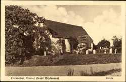 Postcard Kloster Insel Hiddensee in der Ostsee, Blick auf die Kirche