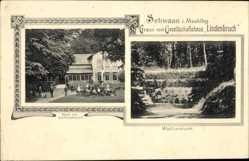 Postcard Schwaan im Kreis Rostock, Gesellschaftshaus Lindenbruch, Wolfsschlucht