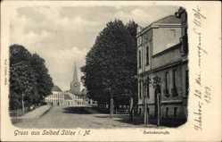Postcard Bad Sülze in Mecklenburg Vorpommern, Blick in die Rostockerstraße