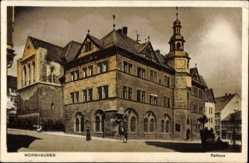 Postcard Nordhausen an der Zorge Thüringen, Blick auf das Rathaus