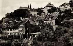 Postcard Nordhausen in Thüringen, Neuer Weg mit Dom, Hof