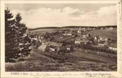 Postcard Tanne Oberharz am Brocken, Blick vom Ziegenberg auf den Ort