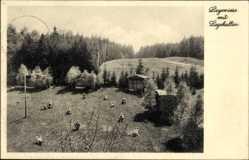 Postcard Benneckenstein Oberharz am Brocken, Georg Zeidler Haus, Liegewiese