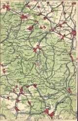 Landkarten Ak Friedrichroda im Thüringer Wald, Schönau, Mehlis, Dietharz
