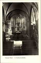 Postcard Lenzen an der Elbe im Kreis Prignitz, St Katharinenkirche, Innenansicht