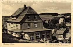 Postcard Tanne Oberharz am Brocken, Pension Sanssouci, Inh. H. Greese, Terrasse