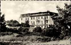 Postcard Neuhaus an der Oste, Blick auf das Ferienheim, Wiese, Fenster