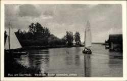 Ak Luftkurort Plau am See Mecklenburg, Wenn die Boote heimwärts ziehen