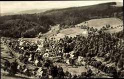 Postcard Rechenberg Bienenmühle Erzgebirge, Totalansicht der Ortschaft