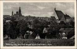Postcard Freiberg im Kreis Mittelsachsen,Blick von Westen auf Kirche St. Petri und Dom