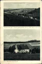 Postcard Tellerhäuser Breitenbrunn Sachsen, Totale, Schneiders Gasthaus