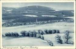 Postcard Johanngeorgenstadt im Erzgebirge Sachsen, Blick auf den Ort und Plattenberg