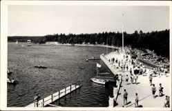 Postcard Schneeberg Neustädtel Erzgebirge, Strandbad Filzteich mit Gästen