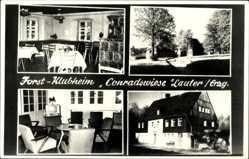 Postcard Lauter Conradswiese im Erzgebirge Sachsen, Forst Klubheim, Innenansicht