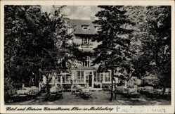 Postcard Luftkurort Plau am See, Hotel und Pension Gesundbrunn, E. Pogrell