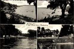 Postcard Luftkurort Plau am See, Badefreuden am Plauer See, Badesteg