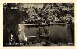 Postcard Georgenthal im Tal der Apfelstädt Thüringen, Totale, Fliegeraufnahme