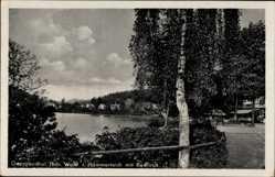 Postcard Georgenthal im Tal der Apfelstädt Thüringen, Hammerteich mit Kurhaus