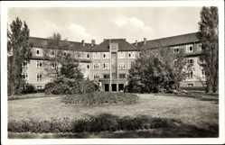 Postcard Bad Wilsnack in der Prignitz, Blick auf das Goethehaus, Frontansicht