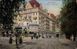 Postcard Bad Elster im Vogtland, Blick auf das Palast Hotel Wettiner Hof