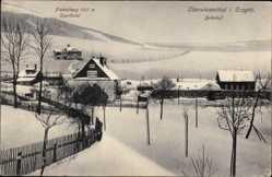 Postcard Oberwiesenthal im Erzgebirge Sachsen, Bahnhof, Fichtelberg, Sporthotel
