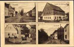 Ak Braunsroda An der Poststraße, Gasthof zur Erholung, Dorfstraße, Denkmal