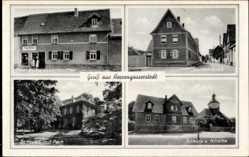 Ak Herrengosserstedt An der Poststraße, Paul Birke, Lebensmittel, Schloss, Kirch
