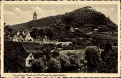 Ak Freyburg an der Unstrut, Blick auf die Jahnstätten, Aussichtsturm