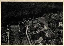 Ak Friedrichsbrunn Thale im Harz, Fliegeraufnahme vom Sanatorium