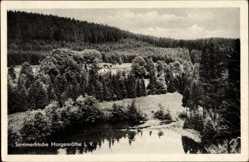 Postcard Morgenröthe Rautenkranz Muldenhammer im Vogtland, Blick auf den Ort