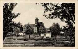 Postcard Morgenröthe Rautenkranz Muldenhammer im Vogtland, Blick auf die Kirche