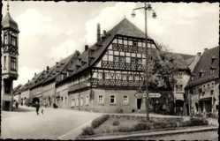 Postcard Hartenstein im Erzgebirge Sachsen, HO Gaststätte Weißes Ross