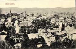 Postcard Bad Elster im Vogtland, Blick auf den Ort mit Häusern, Rathaus