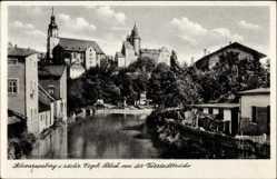 Postcard Schwarzenberg im Erzgebirge Sachsen, Blick von der Vorstadtbrücke