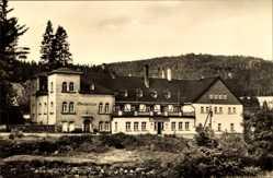 Postcard Erlabrunn Breitenbrunn Erzgebirge, HO Wismut Gaststätte Täumerhaus