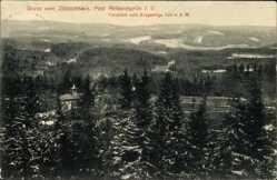 Postcard Reiboldsgrün Auerbach im Vogtland Sachsen, Zöbischhaus, Fernblick, Erzgebirge