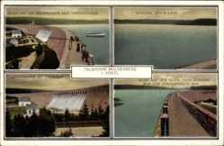 Postcard Muldenberg Grünbach im Vogtland Sachsen, Talsperre, Stausee, Sperrmauer
