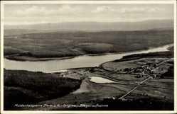 Postcard Muldenberg Grünbach im Vogtland Sachsen, Muldentalsperre, Fliegeraufnahme