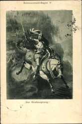 Künstler Ak Schwarzwald Sagen V, Der Grafensprung, Reiter, Ritter