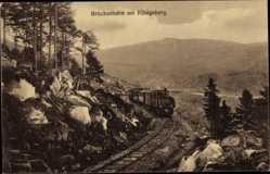 Ak Schierke Wernigerode, Brockenbahn am Königsberg, Dampflok