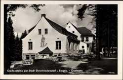 Postcard Ehrenfriedersdorf Erzgebirge, Gaststätte, Terrasse, Greifensteine
